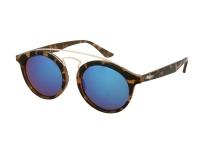 Kontaktlinsen online - Kinder Sonnenbrille Alensa Panto Havana Blue Mirror